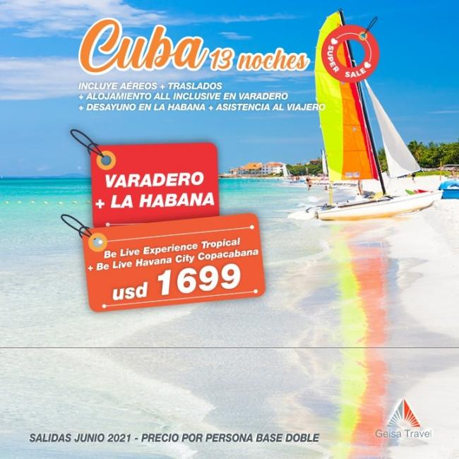 Varadero + La Habana 13 noches